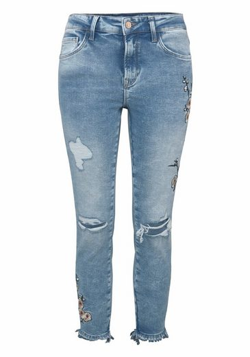 Mavi Jeans Skinny-fit-Jeans TESS, mit floraler Stickerei