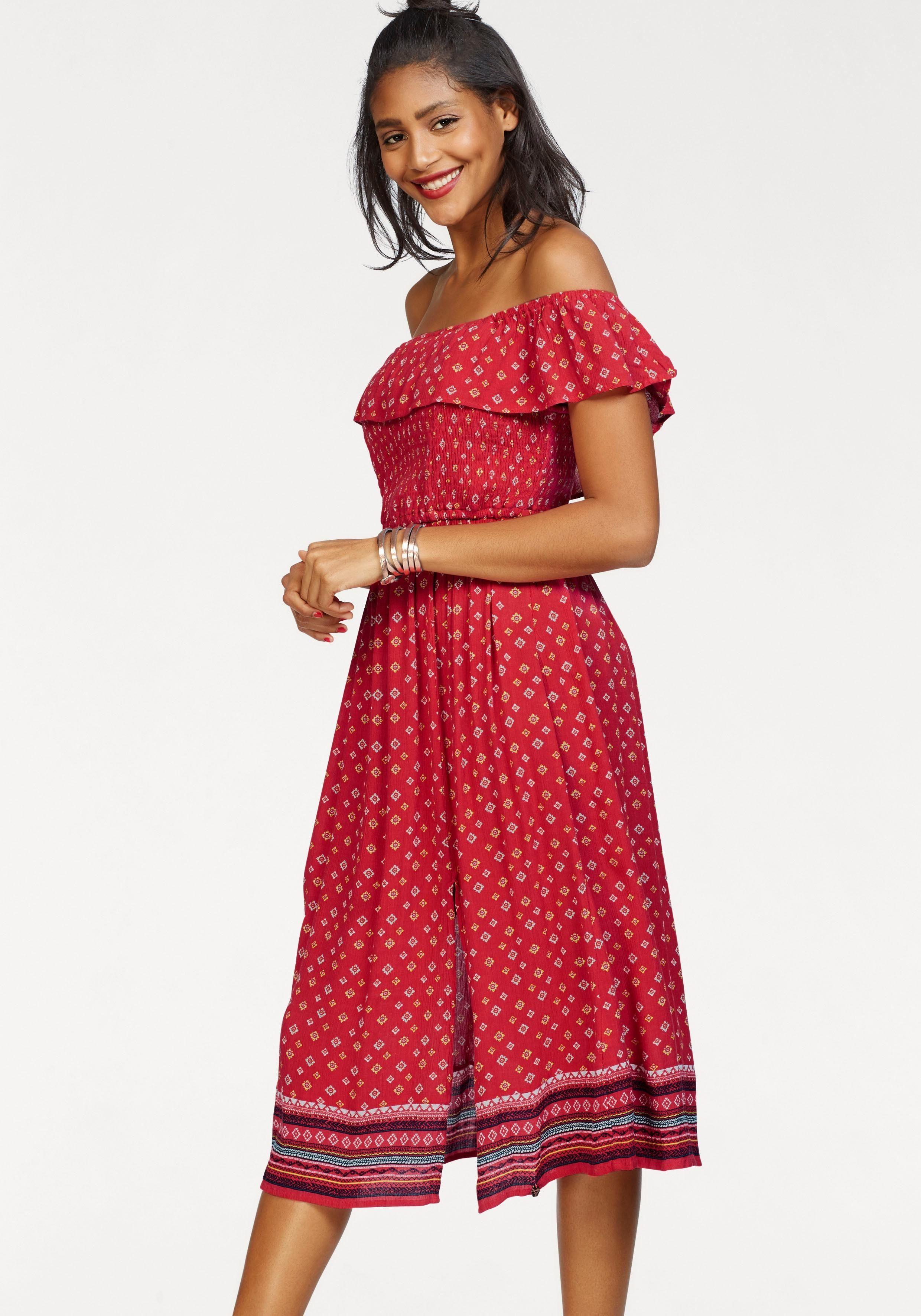 Smocked Look »ruffle Shoulder Ethno Online KaufenOtto Im Kleid Off Superdry Dress« sxBdrthQC