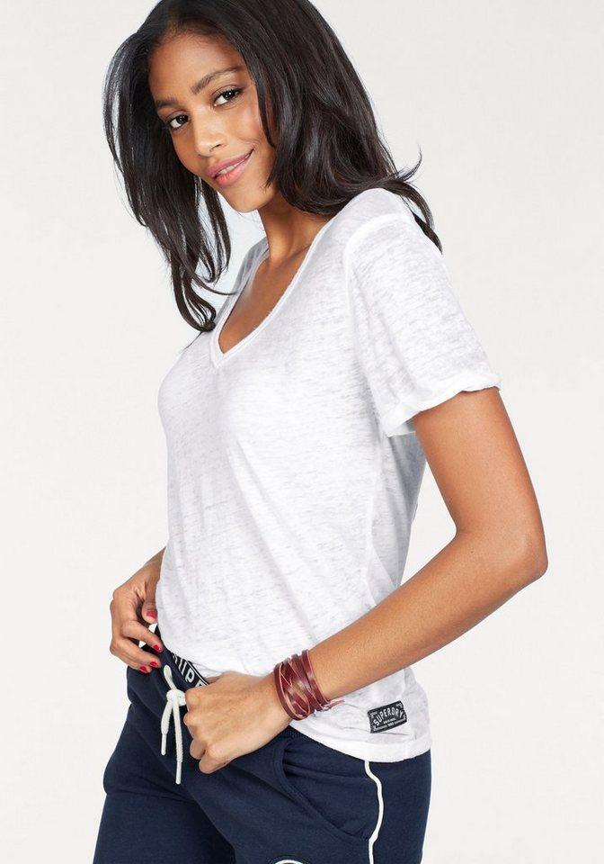 Superdry V-Shirt »BURNOUT VEE TEE« in Burnout-Optik online kaufen   OTTO 6ea0de63f5