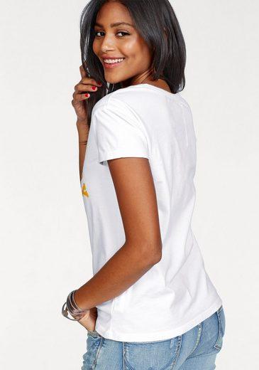 Superdry T-Shirt TRACKSTER SLIM BF TEE, mit mehrfarbigem Frontprint