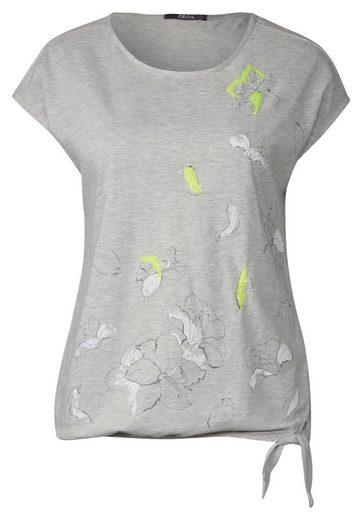 CECIL Print Shirt mit Pailletten