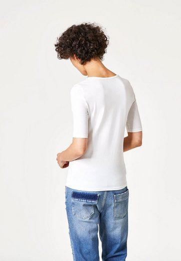 HALLHUBER T-Shirt mit Rundhalsausschnitt