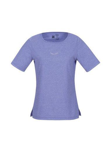 TRIGEMA Melange T-Shirt mit Swarovski® Kristallen