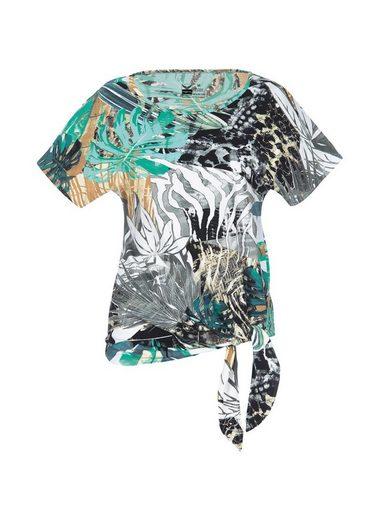 TRIGEMA Viskose Shirt mit Bindeknoten
