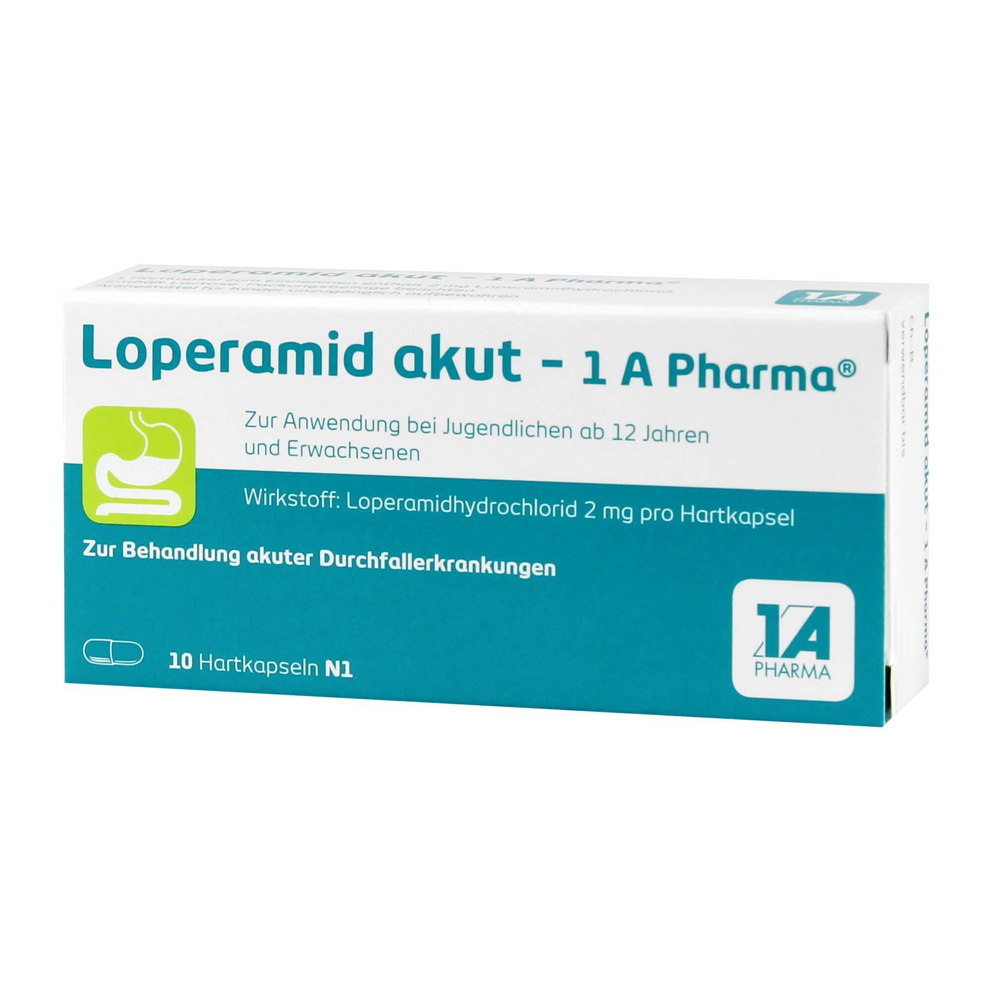 Loperamid akut 1A Pharma, 10 St