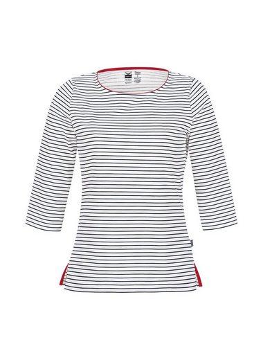 Trigema? Arm Shirt With Marigold Pattern