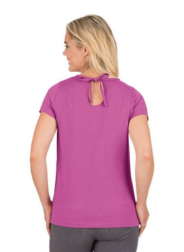 TRIGEMA T-Shirt aus Biobaumwolle mit Schleife