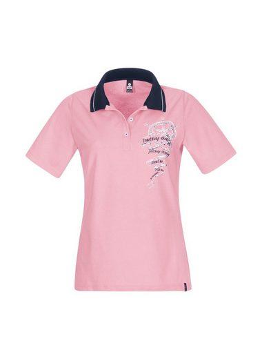 TRIGEMA Poloshirt mit Ringelstrickkragen