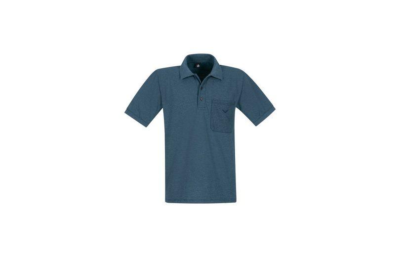TRIGEMA Melange Poloshirt mit Brusttasche Viele Arten Von Günstiger Online lhYuHX