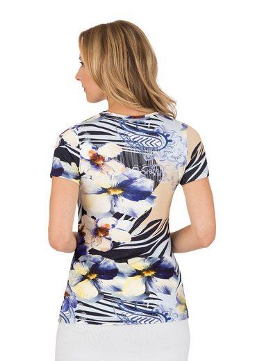 TRIGEMA Viskose Shirt mit Blumenmuster