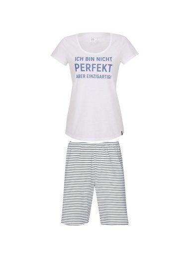 Trigema Short Sleeve Pajamas With Demanding
