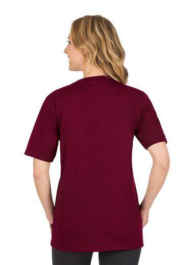 TRIGEMA Melange V-Shirt DELUXE Baumwolle