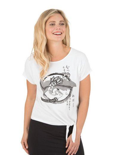 TRIGEMA T-Shirt aus Viskose mit Bindeknoten
