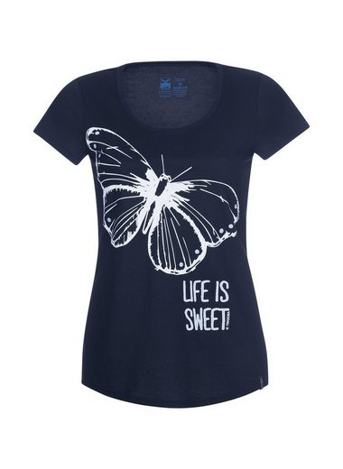 TRIGEMA T-Shirt mit Schmetterling