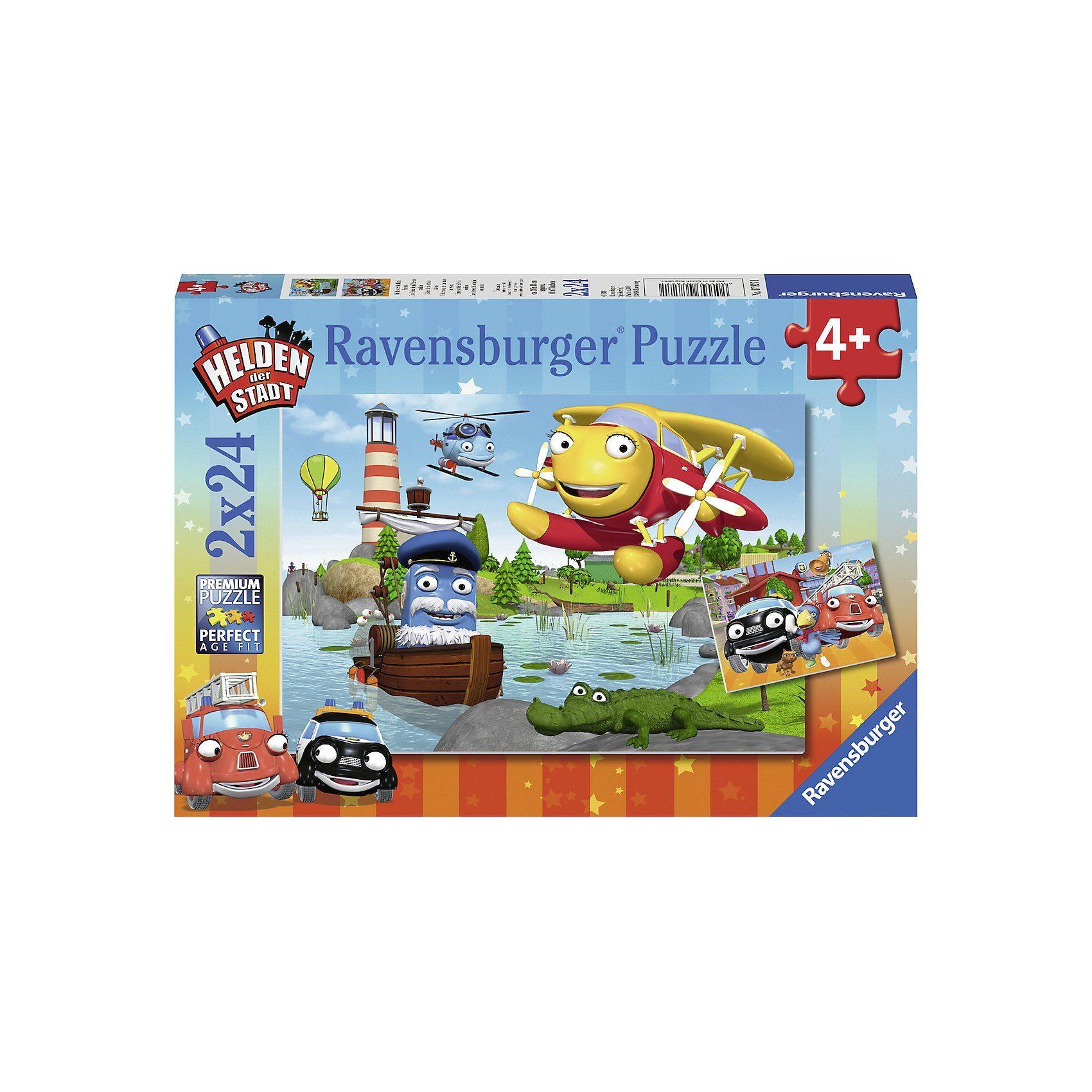 Ravensburger Puzzleset 2 x 24 Teile Helden der Stadt im Einsatz