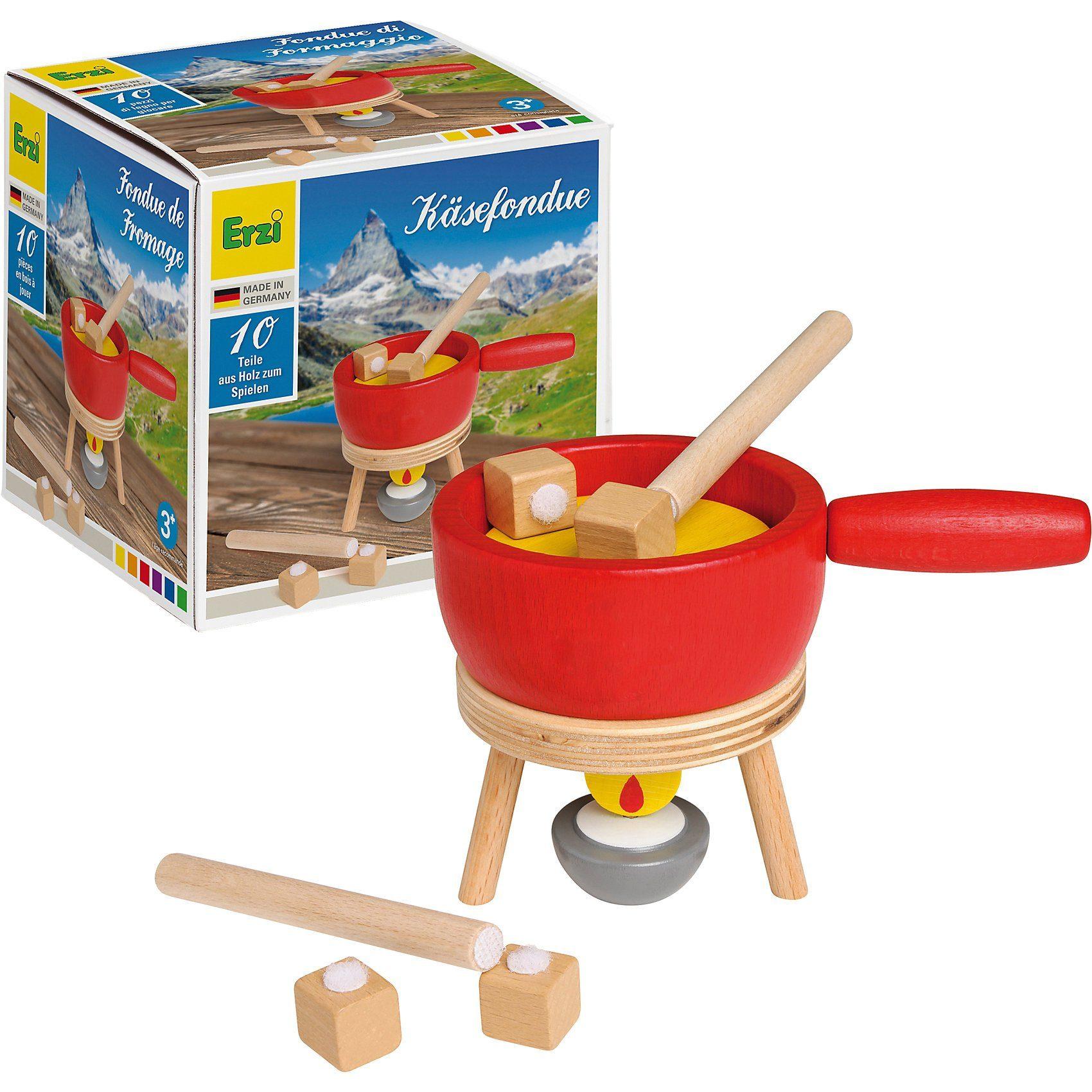 Erzi® Sortierung Fondue-Set, Spiellebensmittel, Haushaltsgerät