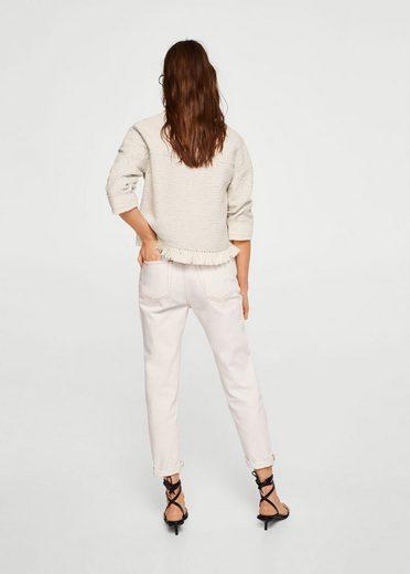 Mango Tweed Jacket With Pockets