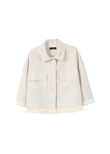 MANGO Tweed-Jacke mit Taschen