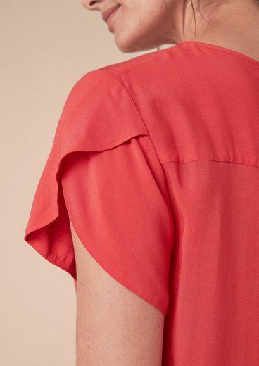 TRIANGLE Luftige Bluse mit Volantärmeln