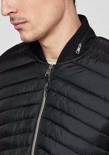 s.Oliver BLACK LABEL Steppjacke mit glänzenden Zippern