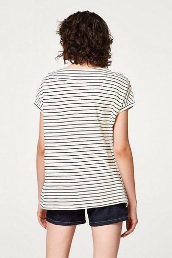 EDC BY ESPRIT Gestreiftes Feinstrick-Shirt