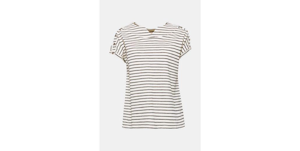 EDC BY ESPRIT Gestreiftes Feinstrick-Shirt Günstig Kaufen Shop gEl3wNNkY