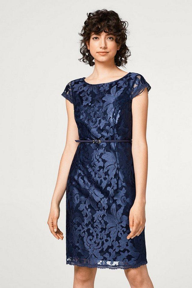 ESPRIT COLLECTION Etui-Kleid mit Spitzen-Muster   OTTO