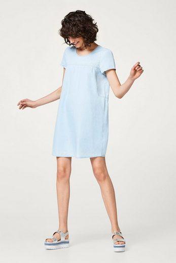 ESPRIT Leichtes Kleid im Denim-Look, 100% Baumwolle