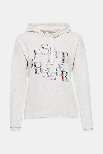 Esprit Melange Hoody With Glittering-effects