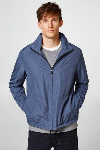 Esprit Mottled Jacket With A High Collar