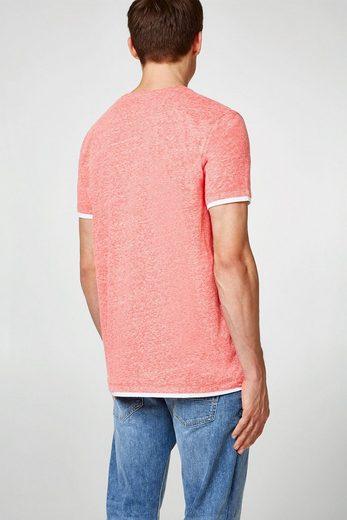Esprit Mottled Layer-shirt Of Jersey