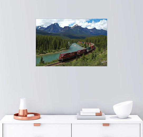 Posterlounge Wandbild - Hans-Peter Merten »Morants-Kurve mit Eisenbahn und Bow River«