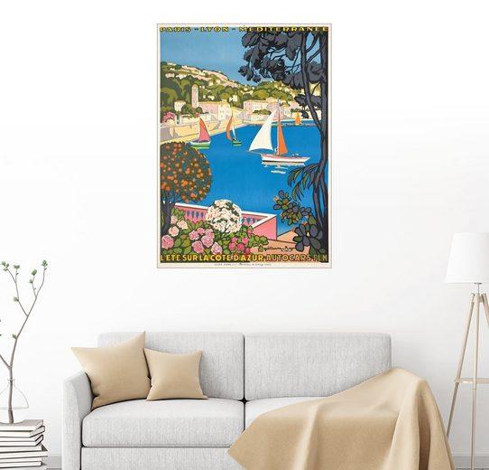 Posterlounge Wandbild - Guillaume G. Roger »Sommer an der Côte d'Azur (L'été sur la Côte ...«