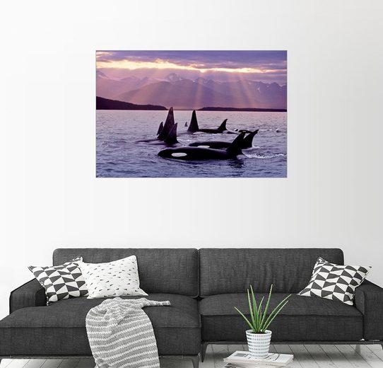Posterlounge Wandbild - John Hyde »Familienausflug im Abendlicht«