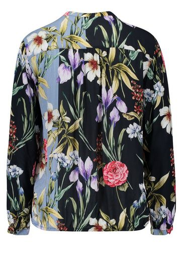 Cartoon Bluse im floralem Allover Print