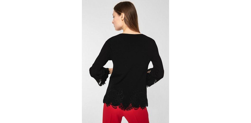 s.Oliver BLACK LABEL Stretch-Pullover mit Spitze Spielraum Hohe Qualität Footlocker Abbildungen Günstig Online Fälschung Freies Verschiffen Reale Neu Zu Verkaufen bfWge