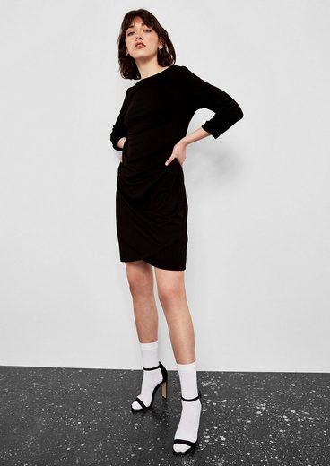 Q/S designed by Jerseykleid mit Raffung