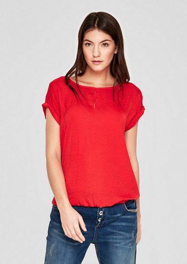 s.Oliver RED LABEL Blusenshirt im Fabric-Mix