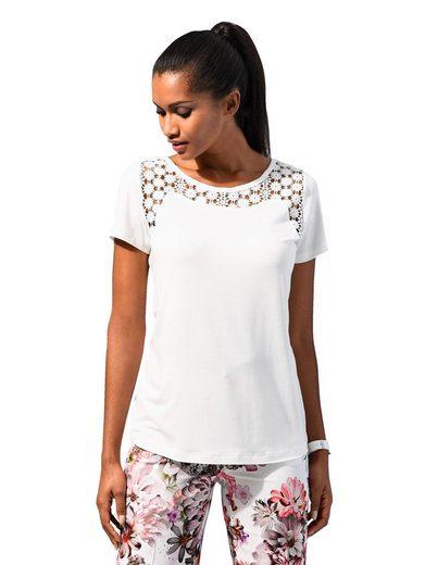 Alba Moda Shirt mit Spitzen-Einsatz