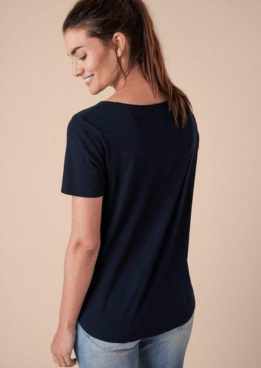 TRIANGLE Shirt mit glänzendem Wording