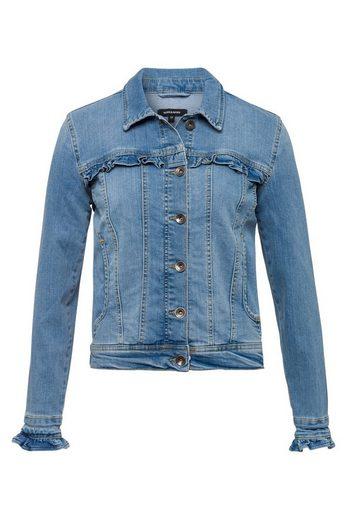 MORE&MORE Jeansjacke mit Rüschen