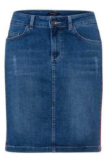 MORE&MORE Jeansrock mit Seitenstreifen