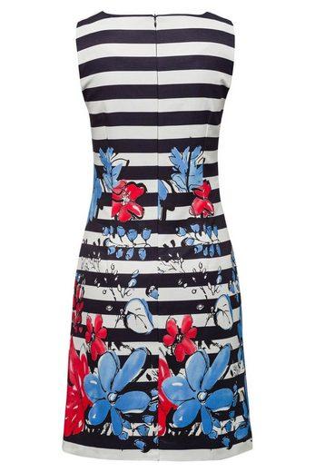MORE&MORE Kleid, Streifen/Blumen Print
