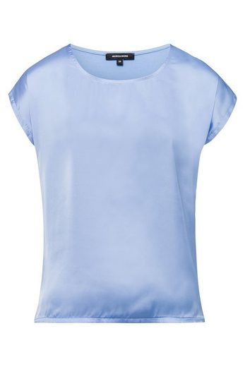More&more Shirt Mit Satinfront, Fresh Blue