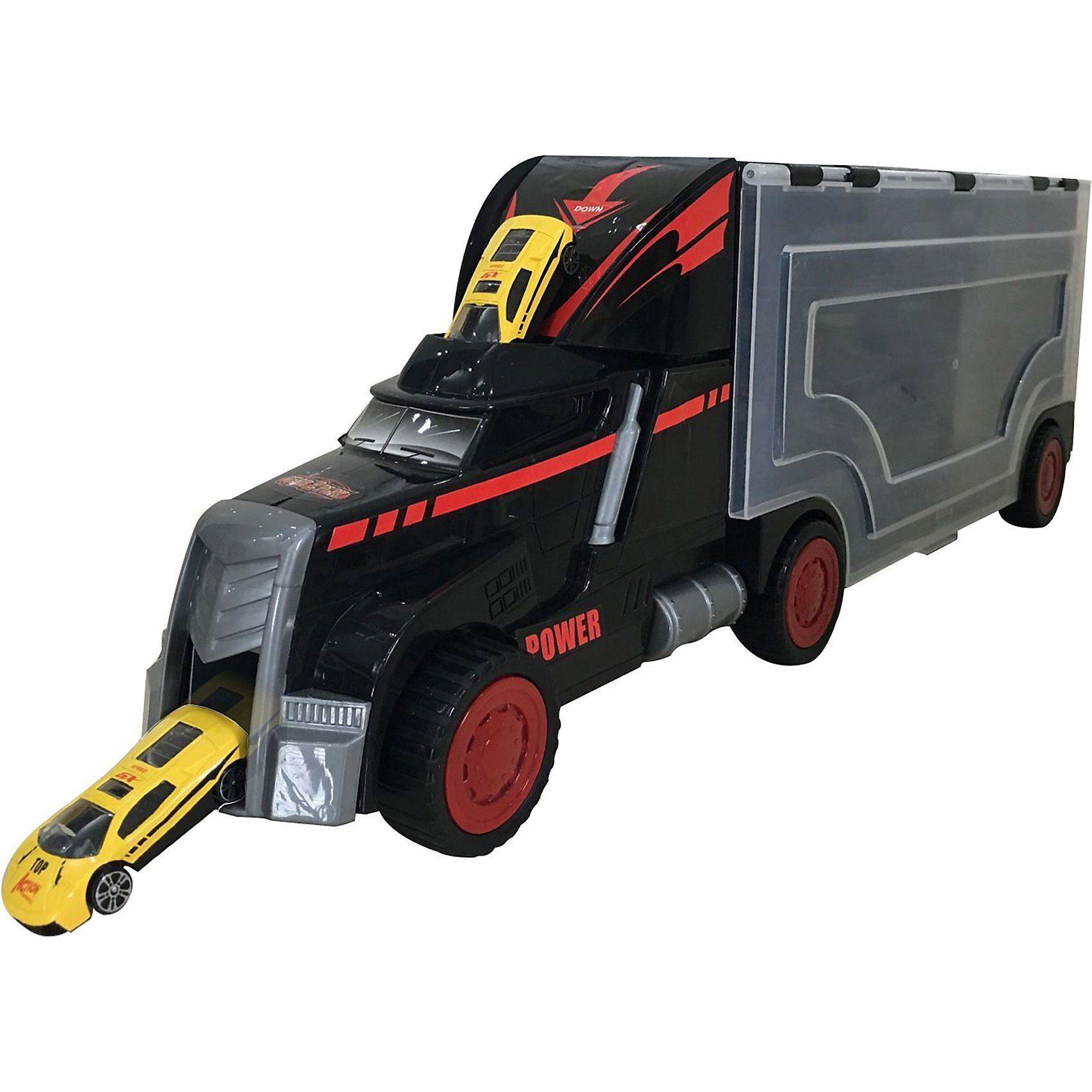 Gear2Play Mega Truck mit 12 Metallautos