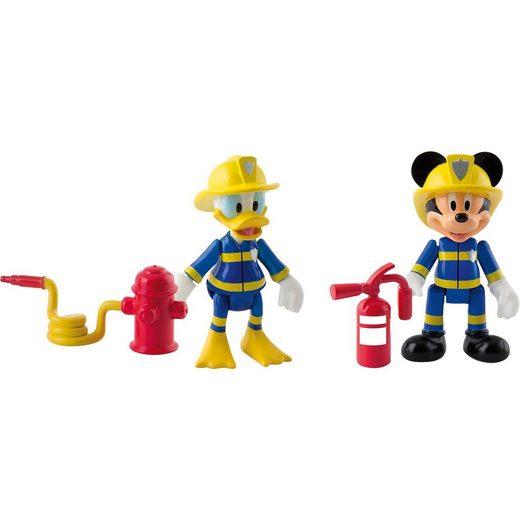 IMC TOYS Micky Feuerwehr 2 Figuren (Micky+Donald)