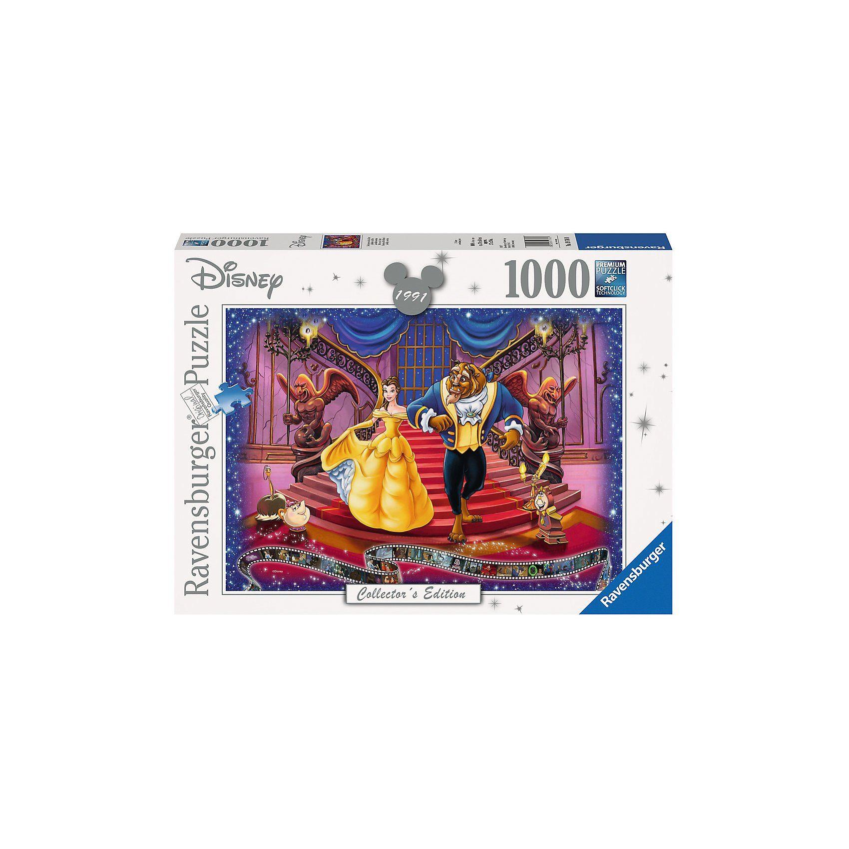 Ravensburger Puzzle 1000 Teile, 70x50 cm, Die Schöne und das Biest