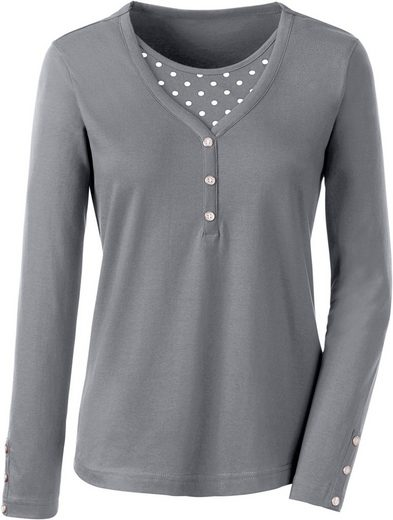 Classic Basics 2-in-1-Shirt im Tupfendessin