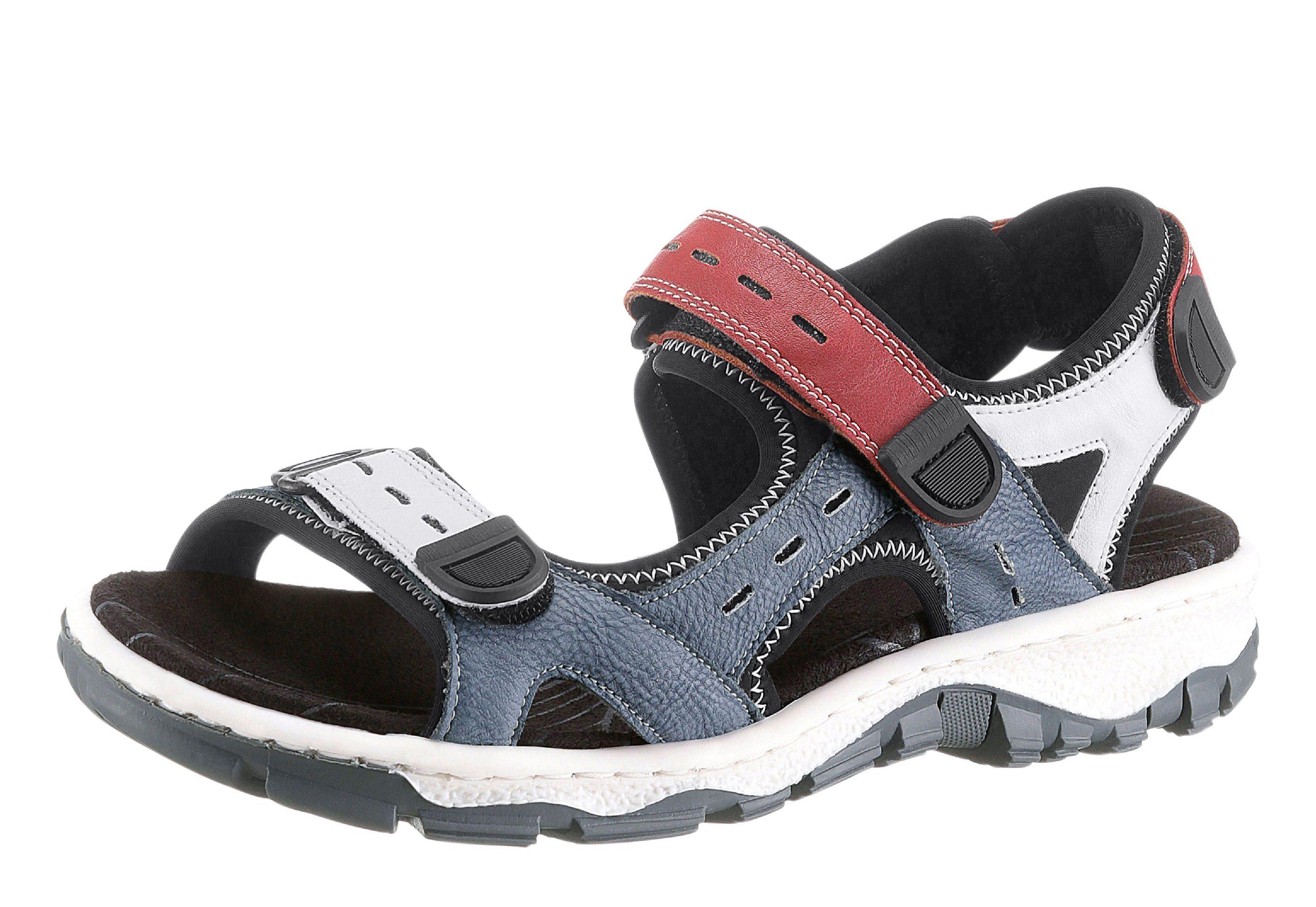 Rieker Sandalette mit rutschhemmender TR-Laufsohle  blau-weiß