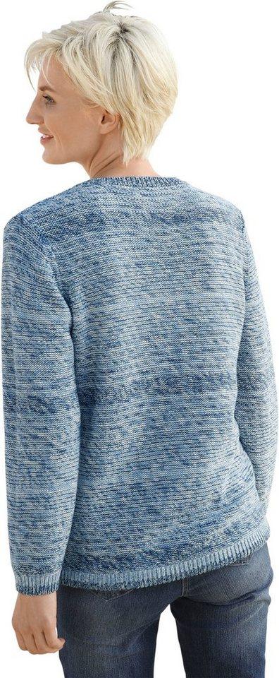 Damen Collection L. Pullover mit Tunnelzug zur Weitenregulierung blau, grau, grün | 08854852089384